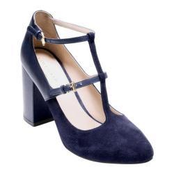 Women's Cole Haan Rheba Strappy Heel 85mm II Marine Blue Leather/Suede