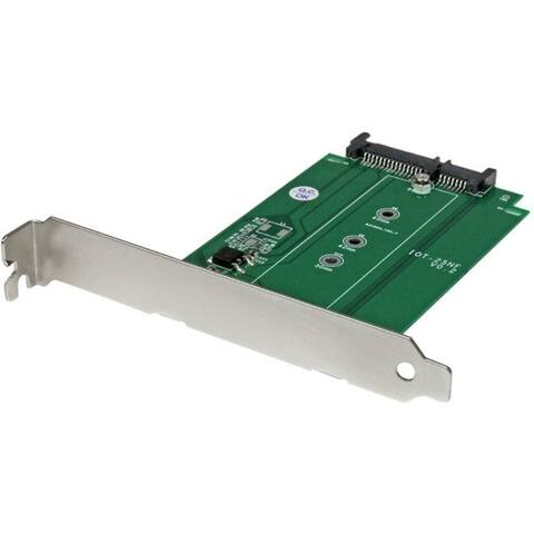 StarTech.com M.2 to SATA SSD adapter - expansion slot mounted - NGFF solid state drive to SATA converter