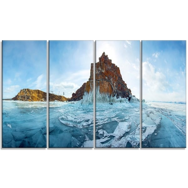 Ice And Rocks Of Lake Baikal Large Seascape Art Canvas Print Overstock 19617855