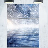 Phase1 Designart - Clouds with Reflection in Water - Landscape Photo Glossy Metal Wall Art