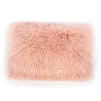 Blush Tibetan Sheep Wool Large Pillow