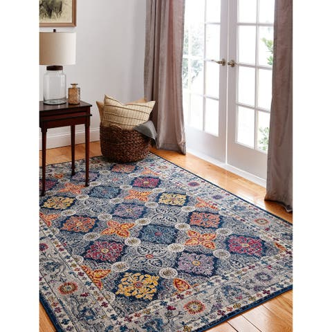 Gideon Transitional Machine Made Area Rug