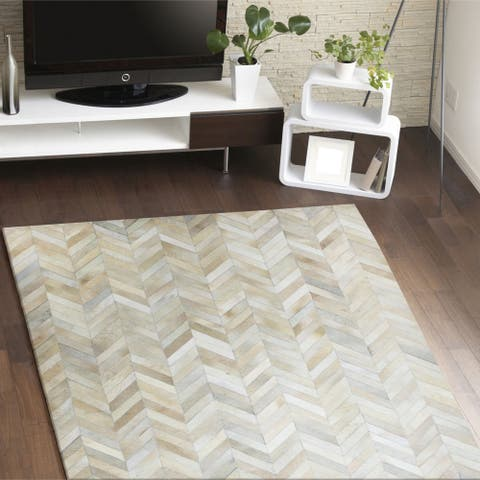 Albion Contemporary Hand Stitched Area Rug