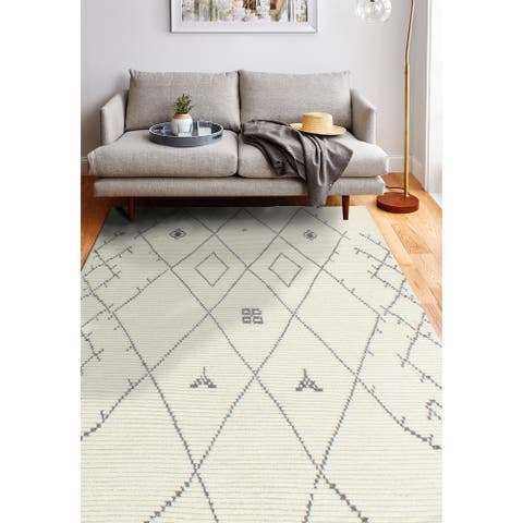 Sabina Transitional Hand Knotted Area Rug