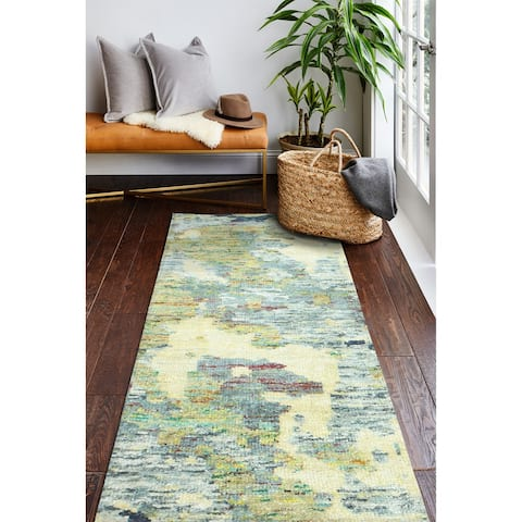 Bleecker Contemporary Hand Knotted Area Rug