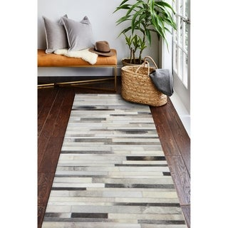 "Tucker Cowhide Area Rug - 2'6"" x 8' Runner"