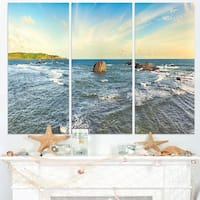 The Indian Ocean Sea Panorama - Modern Seascape Canvas Artwork