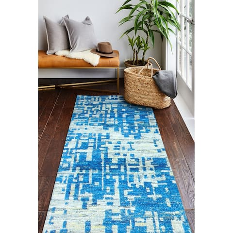 Astor Contemporary Hand Knotted Area Rug