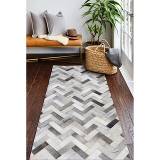 """Quentin Cowhide Area Rug - 2'6"""" x 8'"""