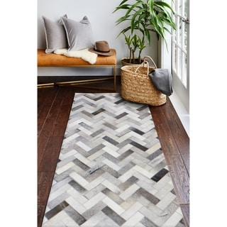 """Quentin Cowhide Area Rug - 2'6"""" x 8' Runner"""
