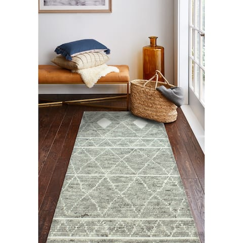 Lourdes Transitional Hand Knotted Area Rug