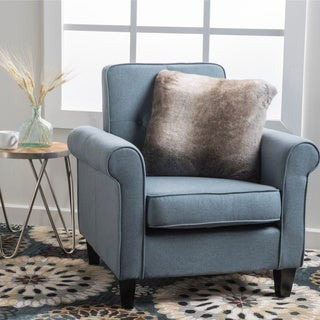 Isaac Tufted Fabric Club Chair by Christopher Knight Home in Grey (As Is Item)