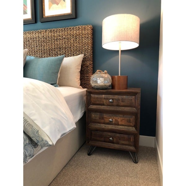 Urban Designs Solid Wood 3-Drawer Storage Chest Night Stand