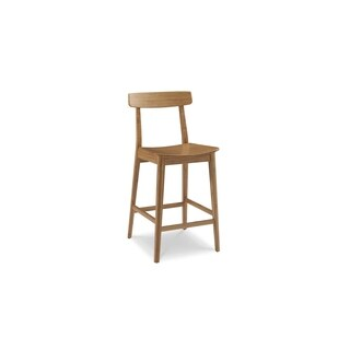 "Greenington G0039CA Currant 30"" Bar Height Stool with Back, Caramelized, (Set of 2)"