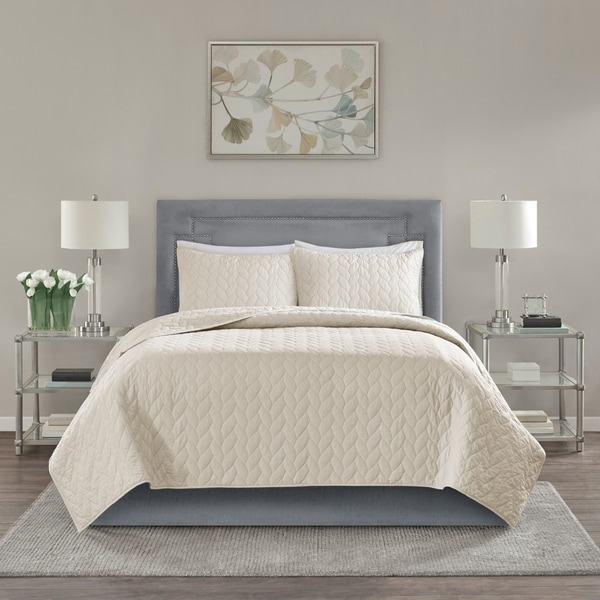 Madison Park Addie 3-Piece Coverlet Set 4 Color Option