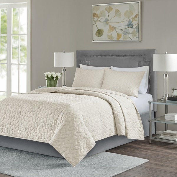 Madison Park Addie Ivory 3 Piece Coverlet Set