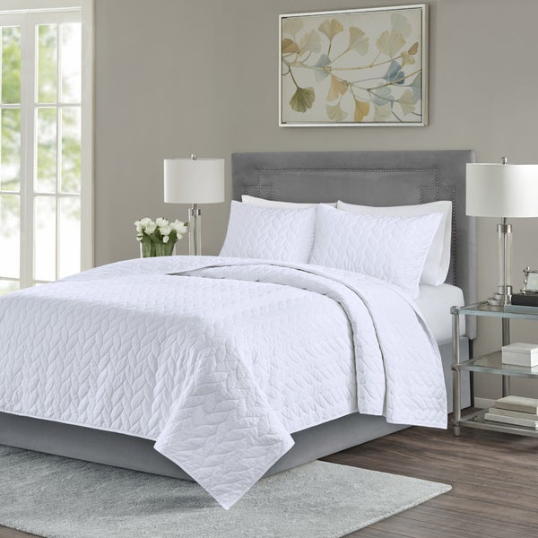 Madison Park Addie White 3-Piece Coverlet Set. Opens flyout.