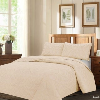 French Impression Mystic Shores Oversized 3-piece Quilted Bedspread Set