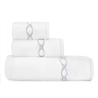 Vera Wang Embroidered 3-piece Towel Set