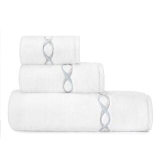 Vera Wang Embroidered 3-piece Towel Set