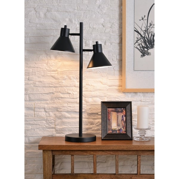 "Design Craft Poplar 29.87"" Black Table Lamp"