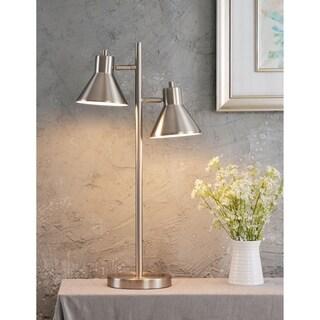 "Design Craft Poplar 29.87"" Brushed Steel Table Lamp"