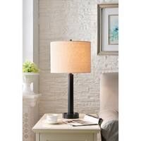 "Nora 27"" Oil Rubbed Bronze Table Lamp - 2 Outlets"