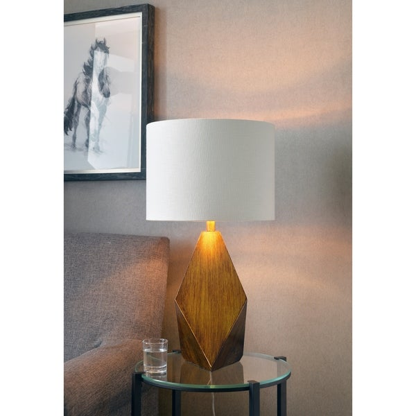 Shop Riley 28 75 Antique Gold Table Lamp On Sale Free Shipping