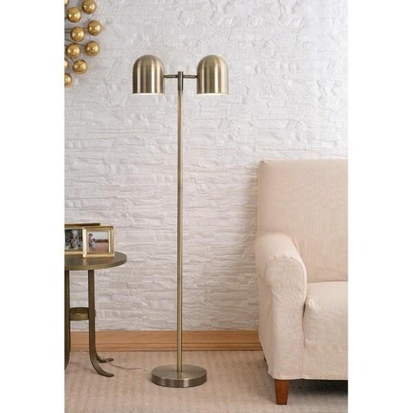 "Kora 57.44"" Antique Brass Floor Lamp"