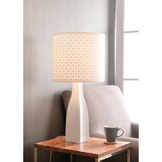 "Design Craft Bardot 24"" White Accent Lamp"