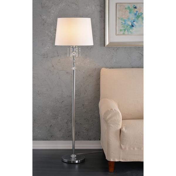 "Naomi 60"" Chrome Floor Lamp"