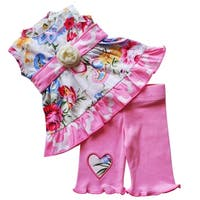 AnnLoren Pastel Floral Paisley 2 pc Clothing set fits 18 inch Dolls
