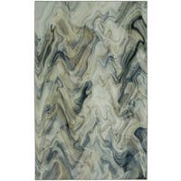 Mohawk Home Prismatic Collection Wavelength Contemporary Nature Abstract Grey/ Blue/ Beige Area Rug - 8' x 10'
