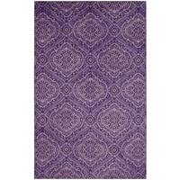 Copper Grove Shey Purple/Cream Area Rug - 8' x 10'