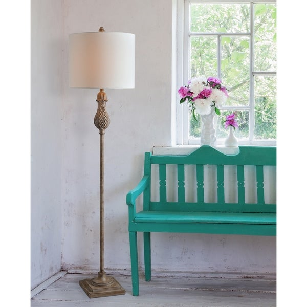 "Design Craft Frances 61.5"" Weathered Wood Floor Lamp"