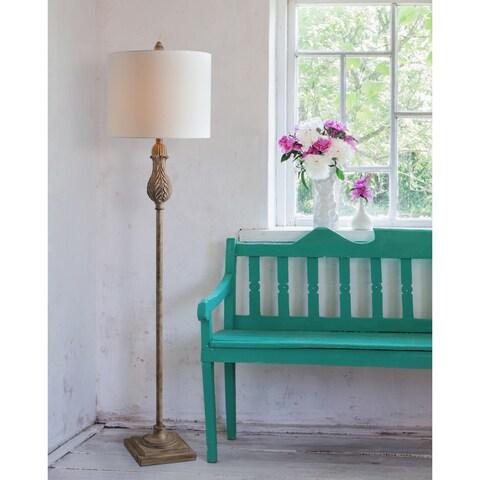 "Frances 61.5"" Weathered Wood Floor Lamp"