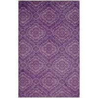 Copper Grove Shey Traditional Ornamental Trellis Purple Area Rug - 5' x  8'