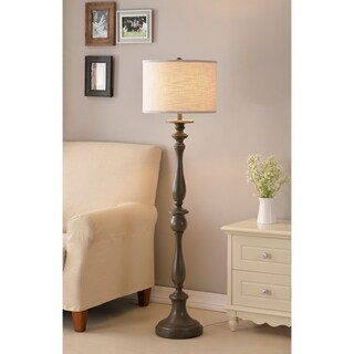 "Luz 57.5"" Weathered Wood Grain Floor Lamp"