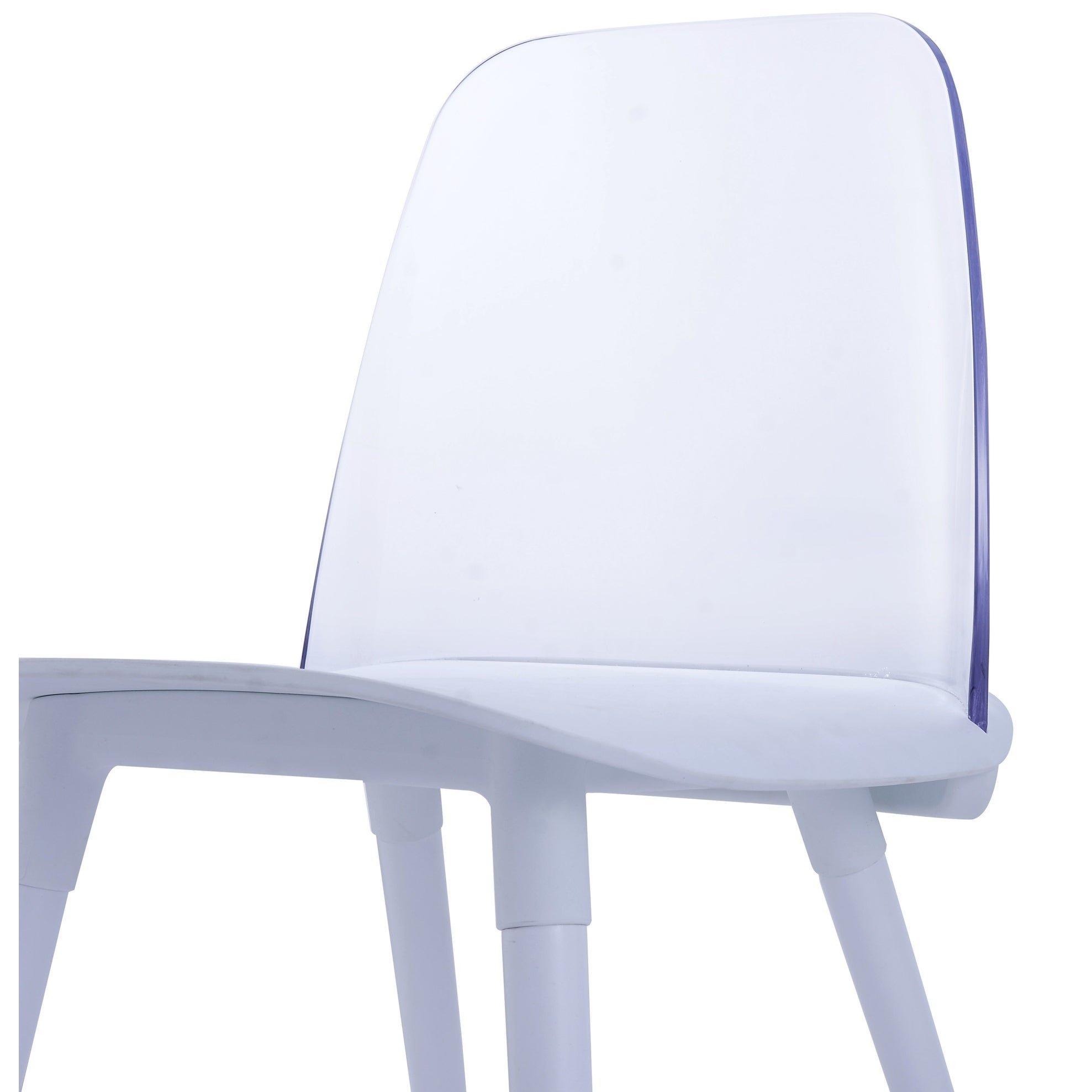 Perfect Pasha White And Clear Acrylic, Beechwood, And Plastic Dining Chairs (Set Of  2)