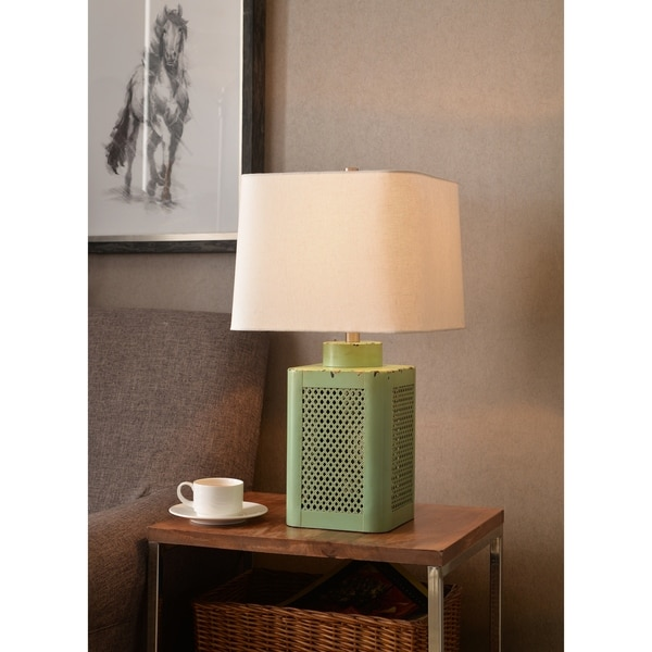 "Design Craft Duval 24"" Antique Green Table Lamp"