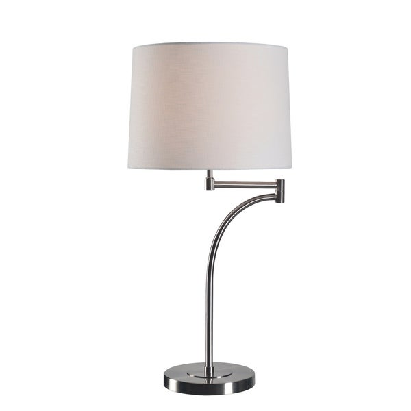 "Design Craft Siete 29"" Brushed Steel Table Lamp"