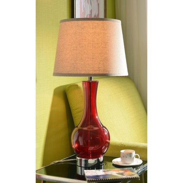 Shop Lucy 29 Table Lamp Red Glass On Sale Free Shipping Today