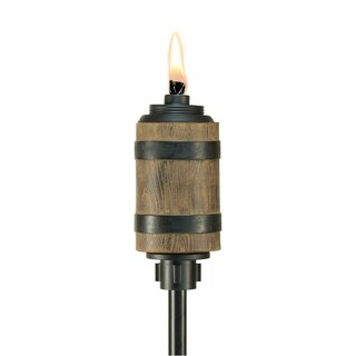 TIKI® Brand 65-inch Tiki Barrel Resin Torch Brown