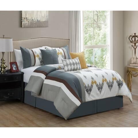 Elight Home Polyester Microfiber 7pc Comforter Set