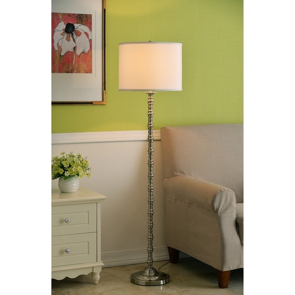 "Design Craft Stella 60.5"" Brushed Steel Floor Lamp"