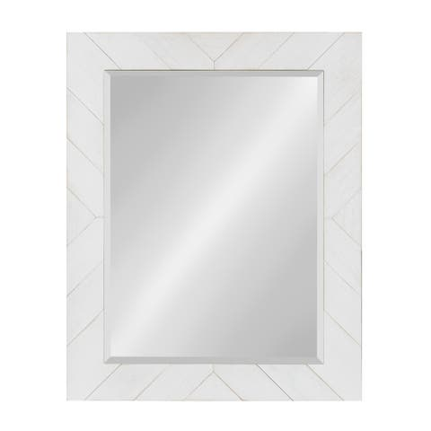 """DesignOvation Rost Pieced Wood Framed Wall Accent Mirror - 23.5x29.5"""""""