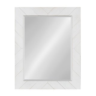 DesignOvation Rost Pieced Wood Framed Wall Accent Mirror
