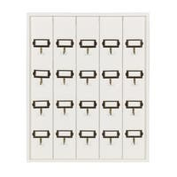 Kate and Laurel Farmhouse 20 Key Holder Wood Wall Plaque