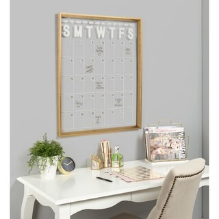 Kate and Laurel Calter Framed Erasable Month-at-a-Glance Wall Planner - 25.5x31.5