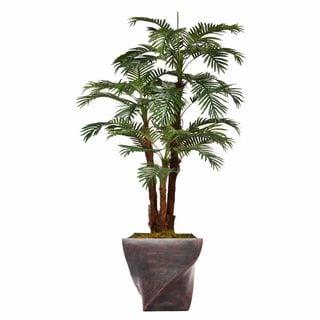 "70.8"" Tall Palm Tree with Burlap Kit and Fiberstone planter"